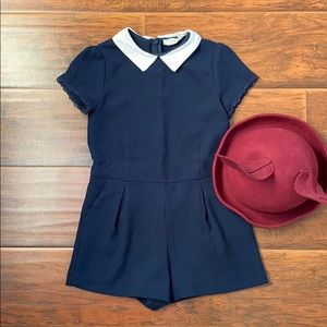 Adorable navy rompers by Zara!